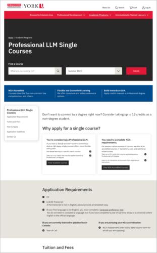 LLM Single Course Landing page